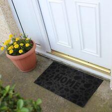 Doormat Black Entrance Rubber Anti Slip Rectangular Outdoor Dirt Barrier