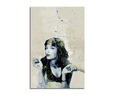 90x60cm PAUL SINUS Splash Art Gemälde Uma Thurman Pulp Fiction III Aqua Geschenk