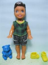 """Barbie Kelly Friend 4"""" TOMMY Boy DOLL w/Outfit Clothes Shoes &toy blue bear New"""