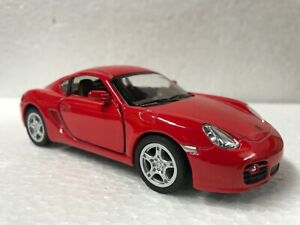 """Kinsmart - 5"""" 2006 Porsche Cayman S Hardtop Candy Red - Great for Dioramas"""