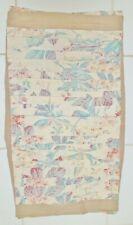 Soft Surroundings Bed Pillow Sham Cover Beige Floral Tie Back 100% Cotton King