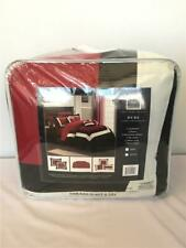 *Chic Home 10-Pc Duke Bed in A Bag Comforter Set King Color Block Red Cs1455