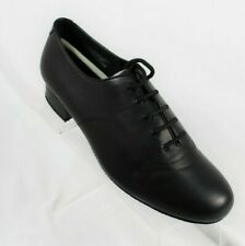 """CAPEZIO 1"""" Standard Ballroom Men's Dance Shoes Sz 10.5 M Black Lace Up SD103"""