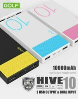 10000mah External 2 Port USB Power Bank Battery Charger 8 Pin & Micro USB Input