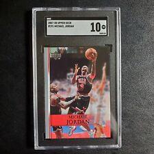 MICHAEL JORDAN - 2007-08 Upper Deck #191 SGC 10 Gem Mint Chicago Bulls GOAT psa