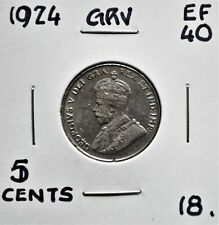 1924 Canada 5 Cents