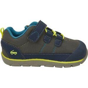 "New See Kai Run ""Summit""grey/ny adventure Shoes, machine washable, toddler 6,NWT"