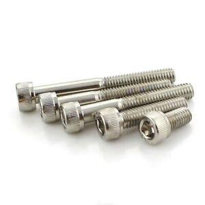 M2-M4 DIN912 Nickel Plated Cup Head Hexagon Socket Screws 12.9 Grade Allen Bolts
