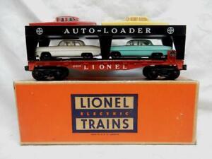 POSTWAR LIONEL 6414 AUTOMOBILE AUTOLOADER  & ORIGINAL CARS in OB, C-7 EX+ - LN