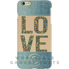 Apple iPhone 6/6s Plus Candy Skin Faded Blue Jeans Love Patch Guard Shield Cover