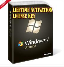 WINDOWS 7 ULTIMATE SP1 DIGITAL LICENSE KEY LIFETIME ACTIVATION 32/64 BITS