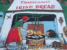 Vintage Traditional Irish Bread Print Towel Kitchen Linens Printed Recipes TW168