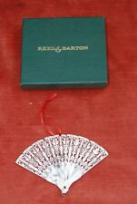Reed & Barton  Plated Filigree Fan Ornament, SIGNED
