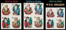 Holiday 2001 Santa Complete Set 3 Blocks 3537-40 3537a-40a 3541-44 MNH - Buy Now