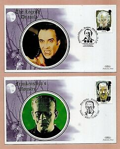 """GB 13 MAY 1997 - """"TALES OF HORROR"""" - SET 4 FDCs WITH DIFF SPECIAL POSTMARKS"""