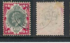 GB, 1902  1/- bright carmine DeLaRue, ordinary paper SG spec.M45(2) (N)