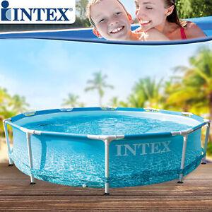 Intex 305x76 Swimming Pool Frame Schwimmbecken Schwimmbad Ersatzpool Familypool