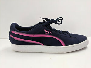 Puma Suede Classic X Hollows Sneaker, Navy/Pink, Mens 11.5 M