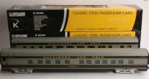 K-Line K4610D Baltimore & Ohio Aluminum Passenger Car Set (Pack of 2) LN/Box