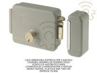 Yale serratura elettrica per cancelli mano dx scatola mm 130 x 105 entrata 70 mm