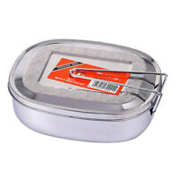 Stainless Steel Students Bento Lunch Box Dinner Food Container M