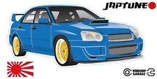 Subaru WRX Impreza   - Blue with Gold Rims - JDM - JapTune Brand