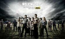 The Walking Dead TV Zombie Fabric Art Cloth Poster 21inch x 13inch Decor 94