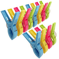 24X Beach Towel Clips Plastic Quilt Pegs for Laundry Sunbed Lounger Clothes Pegs