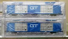 N Scale BLUFORD SHOPS 87152 GRAND TRUNK WESTERN Quad Door Auto Part Boxcar 2-Pak