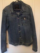 All Saints Denim Jean Jacket Mens Size XXL 44 inch chest