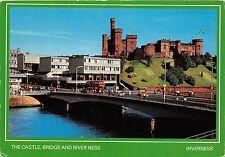 B86729 the castle bridge and river ness scotland  bus inverness