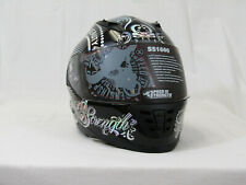 Speed and Strength SS1600 American Beauty Motorcycle Helmet (Black/Silver, X-Lg)