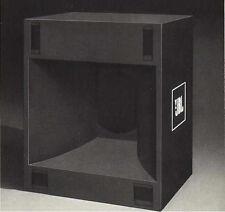 JBL 4560A Bass Bin Speaker Plans