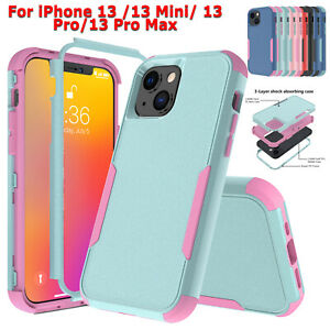 Shockproof Case For iPhone 12 11 Pro Max XR XS Heavy Duty Cover+Screen Protector
