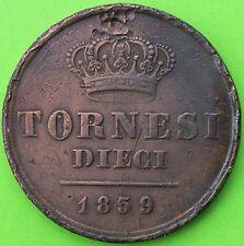 ITALIE DEUX-SICILES FERDINAND II 10 TORNESI 1859