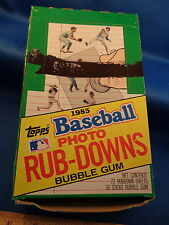 1985 TOPPS BASEBALL - RUB DOWNS HOBBY BOX (36) PACKS !! LQQK !!