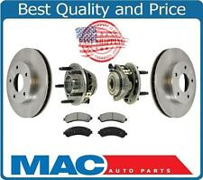 98-05 Chevrolet Blazer 4X4 Front Brake Rotors & Ceramic Pads Front Hub Bearings