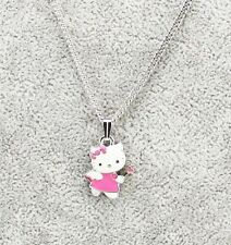 Sanrio Hello Kitty Girls Women's Kids Pink Angel Pendant Necklace Brand New