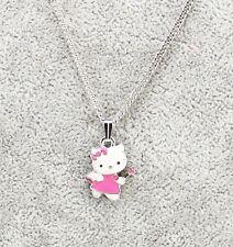 Sanrio Hello Kitty Girls Women's Kids Pink Angel Pendant Necklace Brand New