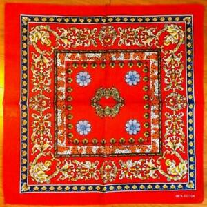 3 Pack Lot Roman Red Paisley Bandana USA Wrap Scarf 100% Cotton 22x22 Bandanna
