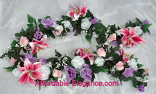 Very Full Garland ~ Customized Colors ~ Wedding Silk Flowers Arch Chuppahs Decor