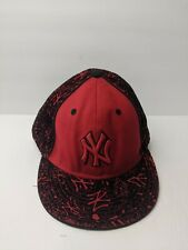 New Era NEW YORK YANKEES 59Fifty Black / Red MLB Baseball Fitted Hat 8