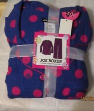 JOE BOXER 1X   FLANNEL PAJAMAS PJS NWT PURPLE WITH REDISH PINK DOTS WOMENS +