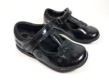 Clarks Trixie Joy Black Patent Leather Infant Girls Shoes Junior 7.5 H