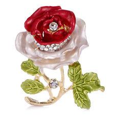 Enamel Flower Rhinestone Crystal Brooch Pin Wedding Bridal Bouquet Pin S6t