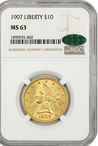 1907 Liberty $10 NGC/CAC MS63