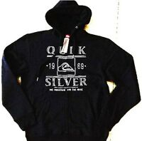 *NEW**QUIKSILVER**black hooded jacket - sz  M mens