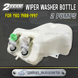 Premium Quality Wiper Washer Bottle 2 Pumps fits Nissan Patrol GQ Y60 TD42 TB42