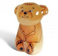 Teddy Bear Cub Selenite Figurine Handmade in Russia Little Bear Small Sculpture