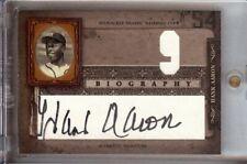 Hank Aaron 2005 Donruss Biography Home Run #9 Auto Autograph Atlanta Braves #9